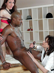 Stockings xxx. Milfs blow black stud. - Unique Bondage - Pic 14