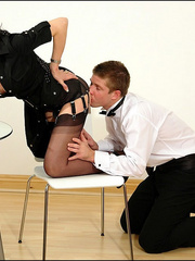 Female strap on. Young guy cums over milf. - Unique Bondage - Pic 7