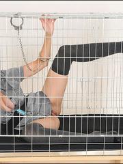 Tugjob. Cuffed caged mature. - Unique Bondage - Pic 1