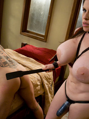 Xxx strap on. Her boss is HER bitch now. - Unique Bondage - Pic 10