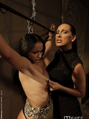 Xxx bdsm. Petite brunette babe in a BDSM - Unique Bondage - Pic 1