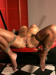 Bdsm. Bondaged gal tied up and punished by - Unique Bondage - Pic 6