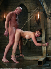Bdsm sex. Ava Devine is bound and dominated - Unique Bondage - Pic 11