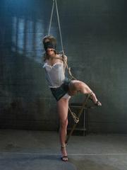 Bondage. Girl in creative bondage and - Unique Bondage - Pic 2