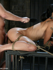 Rough hard sex. Dana is fucked in the ass - Unique Bondage - Pic 12