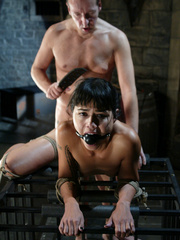Rough hard sex. Dana is fucked in the ass - Unique Bondage - Pic 14