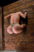 Slave porn. Big tit brunette in extreme bondage…