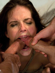 Hard porn. Bobbi Starr gets double - Unique Bondage - Pic 14