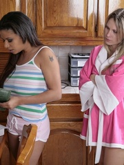 Strapon xxx. Two lesbians fuck a girl with a - Unique Bondage - Pic 2