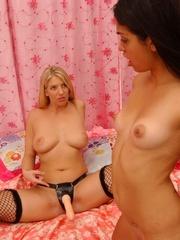 Sexy lesbian. StraponLesbians. - Unique Bondage - Pic 8