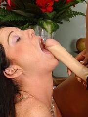 Sexy lesbian. Lazy brunette strapon fucked - Unique Bondage - Pic 10