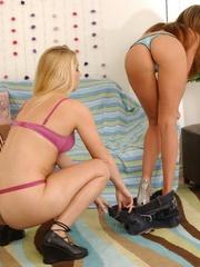 Strap on porn. Lesbian dominates her - Unique Bondage - Pic 7