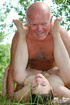Old men young ladies. Grandpa seduces a dirty teen to abuse her tight