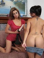Hot lesbians. StraponLesbians. - Unique Bondage - Pic 8