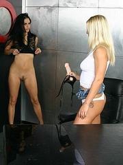 Horny lesbian. StraponLesbians. - Unique Bondage - Pic 17