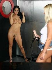 Horny lesbian. StraponLesbians. - Unique Bondage - Pic 19