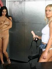 Horny lesbian. StraponLesbians. - Unique Bondage - Pic 20