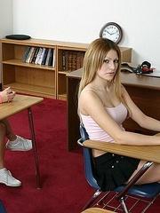 Strap ons. Schoolgirl strapon fucks her sexy - Unique Bondage - Pic 2