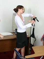Strap ons. Schoolgirl strapon fucks her sexy - Unique Bondage - Pic 14