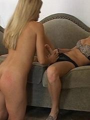 Xxx strapon. Blonde strapon fucked for - Unique Bondage - Pic 17