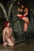 Femdom fetish. Humiliation and explosive strap-on fuck makes Venus come