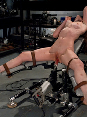 Fucking machine porn. New girl fucks - Unique Bondage - Pic 2