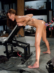 Sexmachines. Amateur brunette with big tits - Unique Bondage - Pic 10
