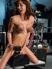 Sexmachines. Amateur brunette with big tits - Unique Bondage - Pic 12