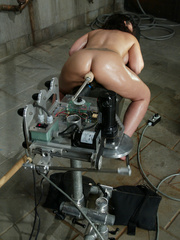 Machine fucking. Jenya enjoys and oily, wet - Unique Bondage - Pic 6