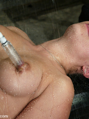 Machine fucking. Jenya enjoys and oily, wet - Unique Bondage - Pic 12