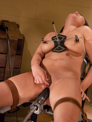 Machine sex galleries. Asian babe,big tits - Unique Bondage - Pic 12