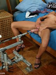 Machine sex galleries. This hottie takes her - Unique Bondage - Pic 4