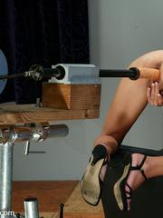 Machine sex galleries. This hottie takes her - Unique Bondage - Pic 8