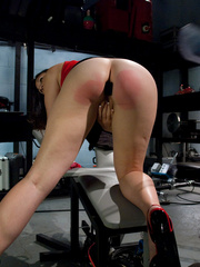 Fuck machine. Amateur freshman girl with big - Unique Bondage - Pic 3