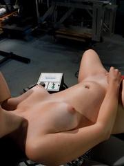 Fuck machine. Amateur freshman girl with big - Unique Bondage - Pic 6