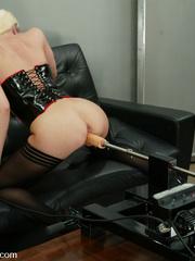Fuck machines. Leggy Blonde gets a milking - Unique Bondage - Pic 5