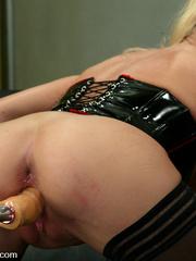 Fuck machines. Leggy Blonde gets a milking - Unique Bondage - Pic 8