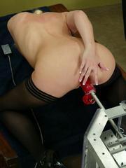 Fuck machines. Leggy Blonde gets a milking - Unique Bondage - Pic 9