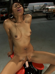 Sexmachines. Amateur black babe gets railed - Unique Bondage - Pic 6