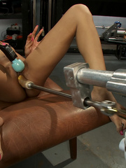Sexmachines. Amateur black babe gets railed - Unique Bondage - Pic 9