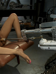 Sexmachines. Amateur black babe gets railed - Unique Bondage - Pic 10