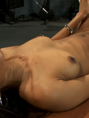 Sexmachines. Amateur black babe gets railed - Unique Bondage - Pic 13