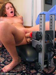 Fucking machines. Amber squirts all over the - Unique Bondage - Pic 8