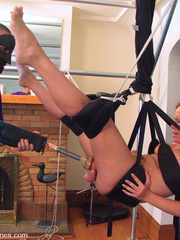 Fucking machines. Amber squirts all over the - Unique Bondage - Pic 9