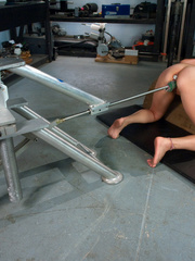 Machines sex. Amateur blond never done porn - Unique Bondage - Pic 4