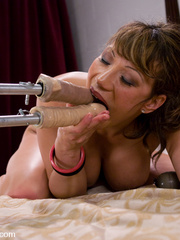 Machine fucking. Ava Devine gets a double - Unique Bondage - Pic 11