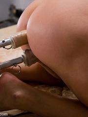 Machine fucking. Ava Devine gets a double - Unique Bondage - Pic 14