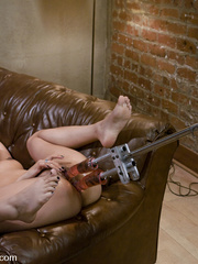 Sexmachines. Asian Squirts all over herself - Unique Bondage - Pic 8