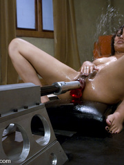 Sexmachines. Asian Squirts all over herself - Unique Bondage - Pic 12