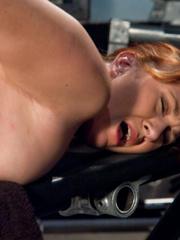 Fuck machine. Amateur girl has full body - Unique Bondage - Pic 4